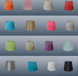 """6"""" CLIP ON Bulb Silk Look Small  Lampshade Ceiling Table Wall Colour Mix New"""