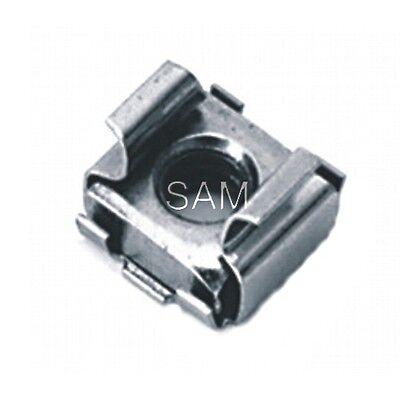 10 Stück Käfigmuttern Edelstahl A2 M5 (1,7-2,5mm) für Loch 8,3 - cage nuts