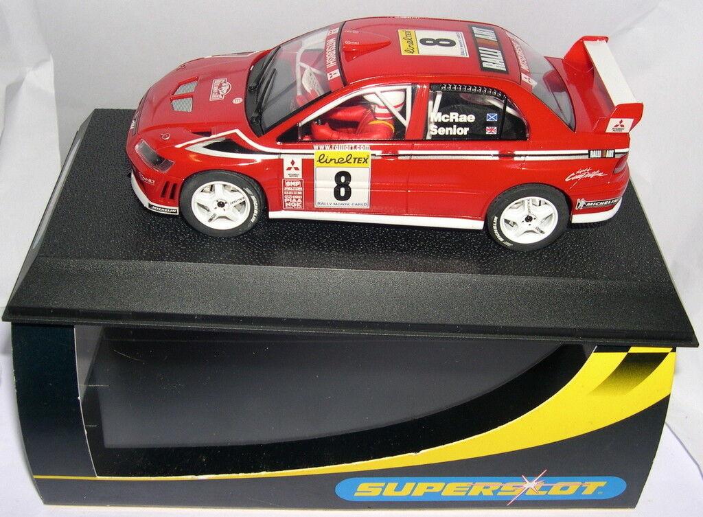 Qq SUPERSLOT H2364 MITSUBISHI LANCER WRC R MONTECARLO '02  8 Mc RAE SCALEXTRIC