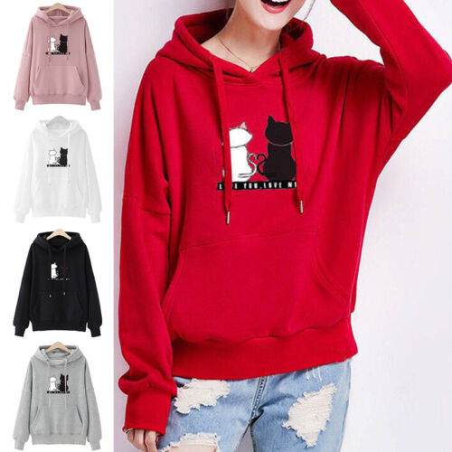 Women Velvet Sweater Hooded Winter Coat Casual Jumper Tops Pullover Sweatshirts