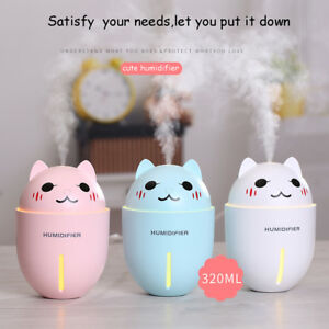320ml-Essential-Oil-Diffuser-Ultrasonic-Air-Humidifier-cute-cat-with-LED-Lights