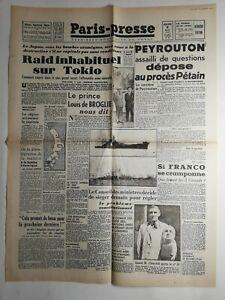 N271-La-Une-Du-Journal-paris-midi-8-aout-1945-raid-inhabituel-sur-Tokio