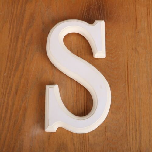 Letter S Ceramic Ready To Paint Porcelain UPAINT