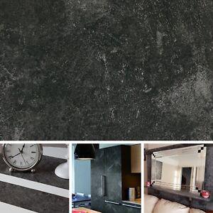 New Diy Kitchen Worktop Slate Grey Vinyl Cover Self