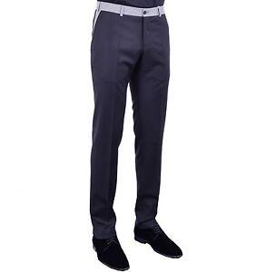 MOSCHINO-Schmal-Geschnittene-Hose-Wolle-Schwarz-Slim-Fit-Trousers-Black-04014