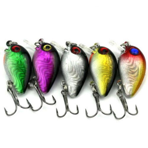 5X\set Spinner Fishing Lures Bass ZOC Crank Bait Tackle Hook Fishing Lures Set~