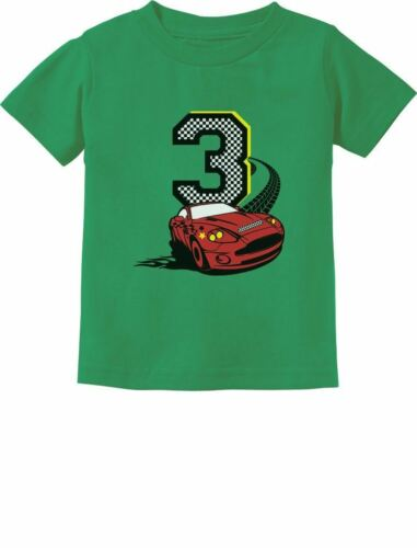 3rd Birthday 3 Year Old Boy Race Car Party Toddler Kids T-Shirt Three year old