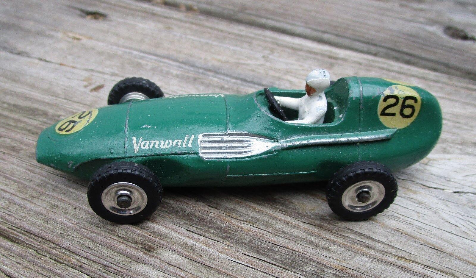 Vintage Original Dinky 239 Vanwall Rare Decal, Spun Hubs