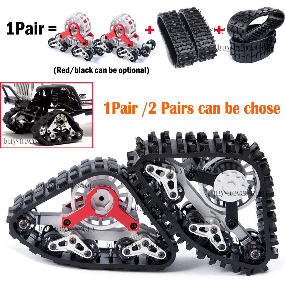 Metal Tracks Wheels Conversion Snow Tires for 1 10 RC AXIAL SCX10 Wraith 90018