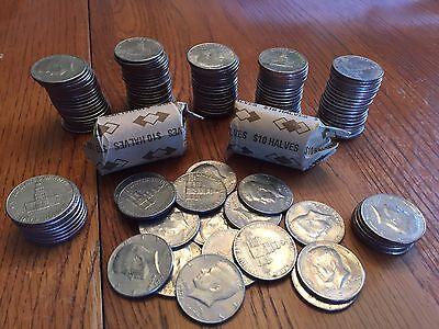 1976 Kennedy Half Dollar Roll 100 coins Bicentennial Coins FIVE ROLLS 5