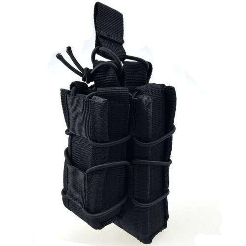 Tactical Molle Mag Pouch Ammo Open Top Single Double Rifle Pistol Hunting Bag