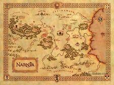 Die Chroniken von Narnia Vintage Mundi Fantasy Bilddruck alte Welt Antique Map