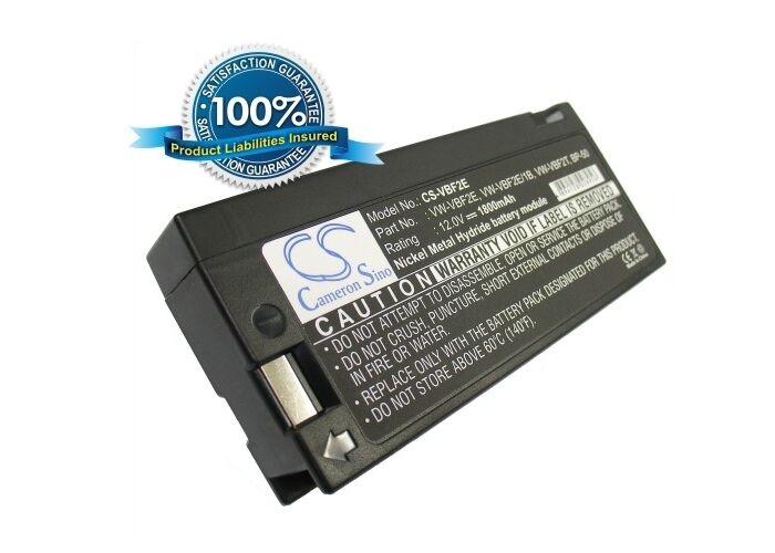 12.0V battery for Panasonic PV910, NV-MS5A, PV715S, NV-M3000, PV500D, PV908D, PV