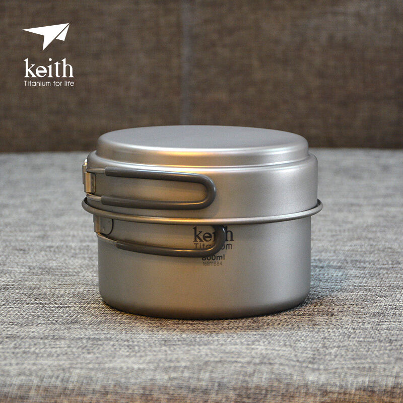 Multi-use Lightweight Titanium Pot Camp Picnic Cookware  Tableware 168g KP6012  there are more brands of high-quality goods