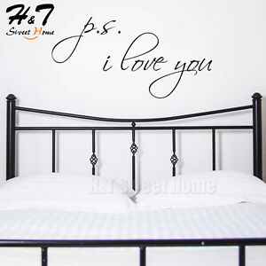 I Love You PS Vinyl Wall Decal Sticker P.S