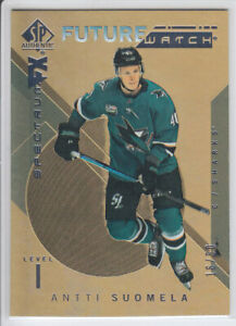 2018-19-UD-SP-AUTHENTIC-ANTTI-SUOMELA-RC-50-GOLD-BOUNTY-ROOKIE-FW-SPECTRUM-FX