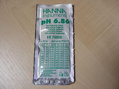 2 X Hanna Medidor De Ph Buffer Calibración solución Sachets Hi 70006 6.86 ph