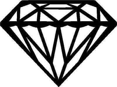 outline Dimond - 50mm-200mm Vinyl Sticker Decal for Wall Window Car