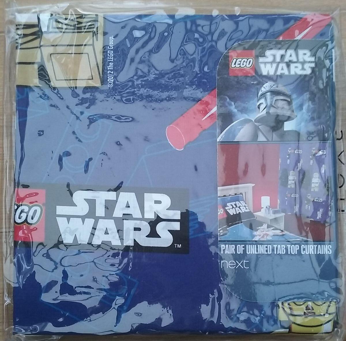 NEW Blau STAR WARS LEGO CURTAINS 53  X 72  DROP