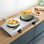 Electric Countertop Burner 1800W Double Hot Plate Portable Universal Cookware