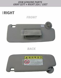 Interior Sun Visor Shade LH+RH 2P Gray For GM Chevrolet Sonic 2012+ OEM  Parts Top Christmas gifts 2018 c4b61059741