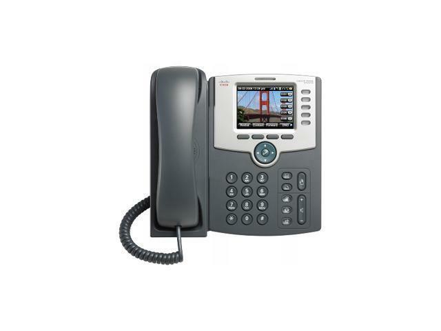 Cisco SPA525G 5-Line IP Phone W/ WiFi Bluetooth PoE and LCD Display Silver #B