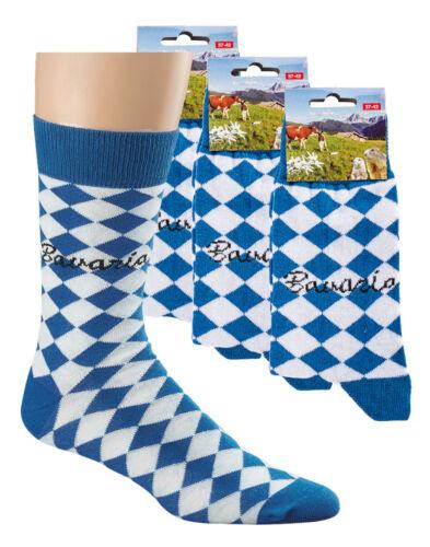 im 3er Pack Oktoberfest Socken Trachten-Socken mit Motiv