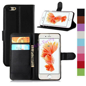 Folio-PU-Leather-Wallet-Card-Flip-Case-Cover-For-iPhone-4s-5s-SE-5C-6-6s-7-Plus