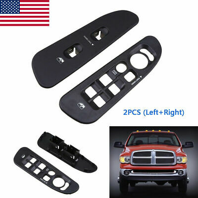 Set of 2 Window Switch Bezels New Front Right-and-Left for Ram Truck 1500 Pair