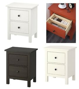 Ikea-HEMNES-BedSide-Table-Chest-of-2-Drawers-Pull-Out-Stop-3-Colours-54x66-cm