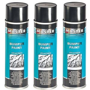 strukturspray schwarz 500ml master troton bumper struktur lack spray kunststoff ebay. Black Bedroom Furniture Sets. Home Design Ideas