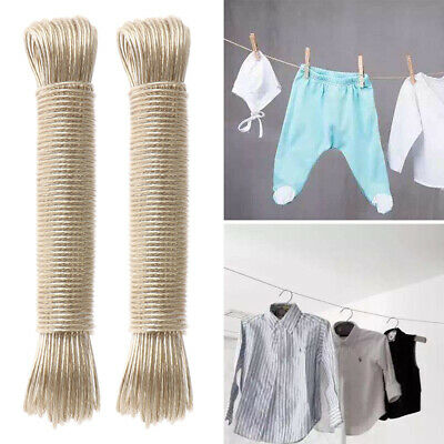 Domopak /® 20m Metal Steel Core Strong Garden Outdoor Laundry Washing Clothes Line Plastic PVC Rope 20 Metres