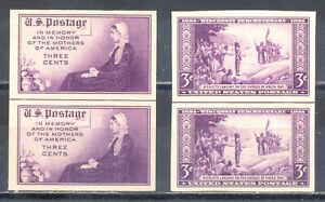 US-Stamp-L2422-Scott-754-755-Mint-NH-Nice-Imperf-Horizontal-Line-Pair