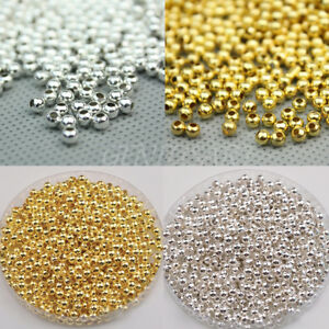 1000x-Gold-Silver-Plated-Round-Ball-Spacer-Bead-3mm-Jewelry-Finding-Charm-Hot