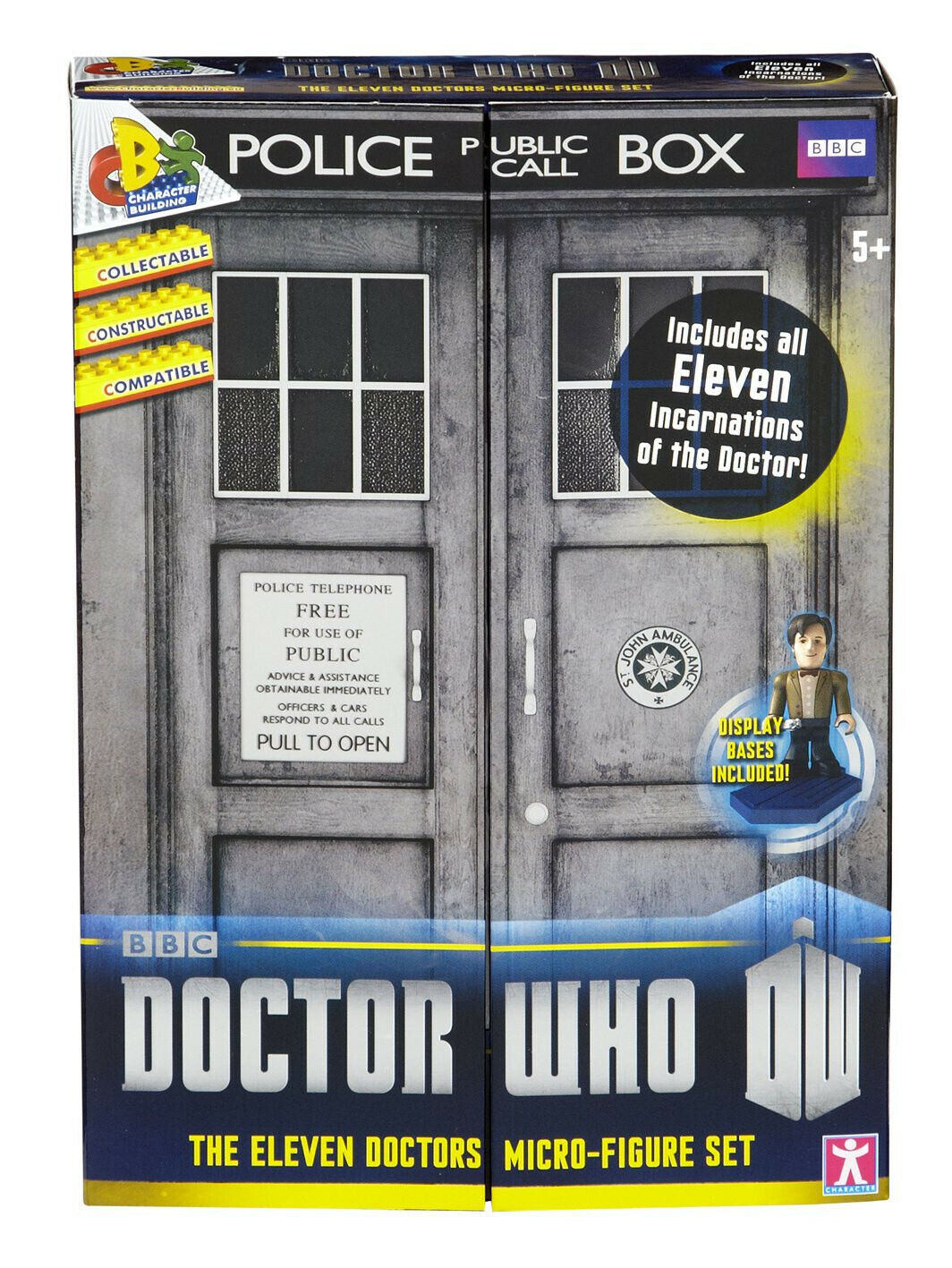 Doctor Who ANNIVERSARIO Character Building Undicesimo Dottore COLLECTOR PACK