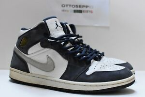 e35cb01b4af4 11.5 2001 Air Jordan I 1 Retro+ Midnight Navy White silver og qs ...