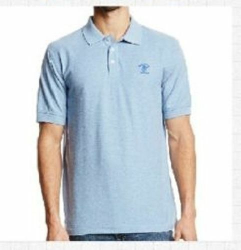 91a65665d Beverly Hills Polo Club Heather Pique Mens Polo Shirt Blue Oxford Size S  for sale online | eBay