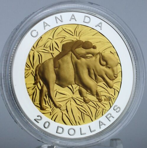 Canada 2014 $20 The Seven Sacred Teachings Respect 1 Oz Pure Silver Proof Coin