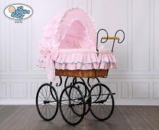 My Sweet Baby Retro Luxus Stubenwagen Nostalgiestubenwagen Weide XXXL Rosa TÜV