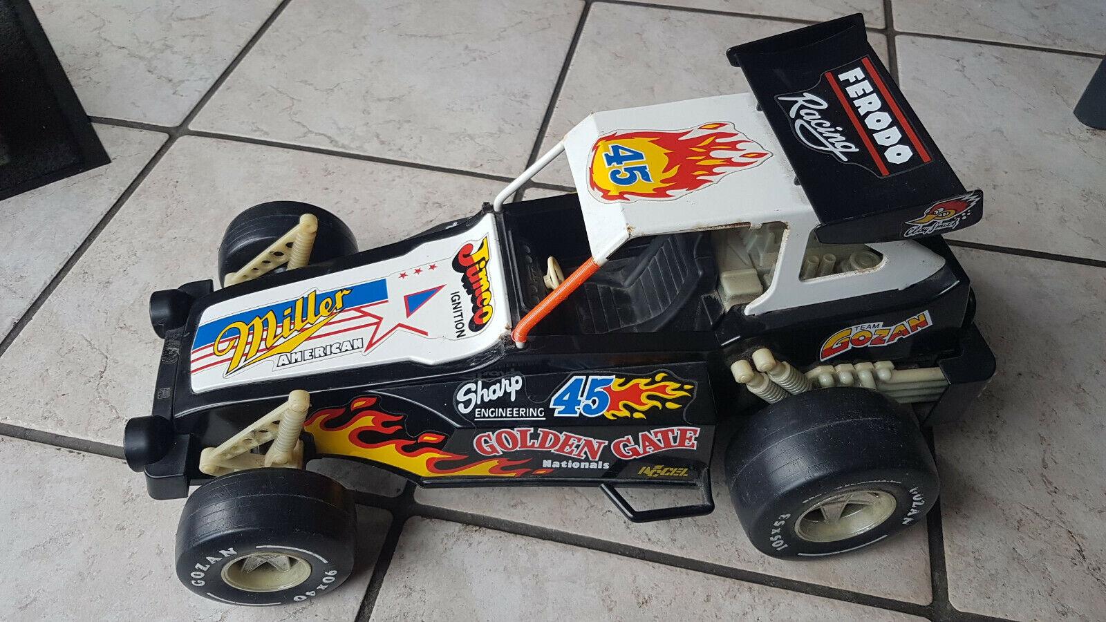 GOZAN - Rare ancienne voiture en tole team JIMCO IGNITION FERODO RACING