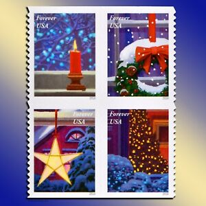 Image Is Loading 20 Christmas Forever Postage Stamps Book USPS Holiday