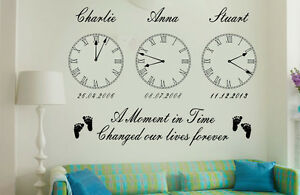 Personalised-Kids-Birth-Date-Vinyl-Wall-Art-Clock-x-3-Stickers