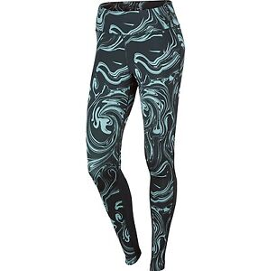 656edb162535e3 Nike Power Epic Lux Women's Printed Tights 'Seaweed Green' (XS ...