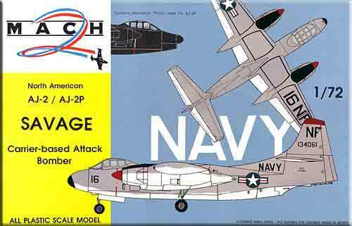 Mach 2 1 72 North American AJ-2 AJ-2P Savage
