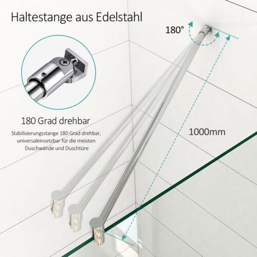 100cm Dusche Stabilisationsstange Haltestange Edelstahl für 6//8//10mm Glaswand