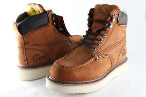Men Work Boot Cobra C11M Brown Genuine Leather Goodyear Welt ...