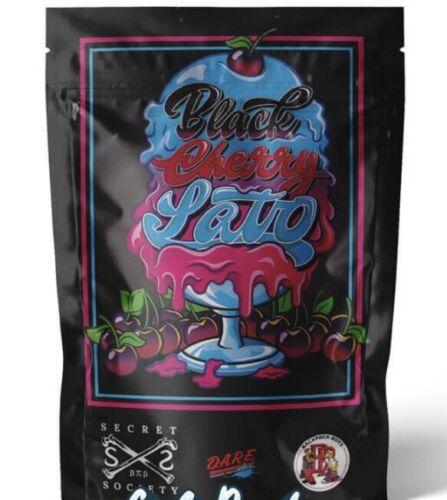 """Backpack Boyz 3.5g Mylar /""""Black Cherry Gelato/"""" Smell Proof Ziplock Bag 25 Pack"""