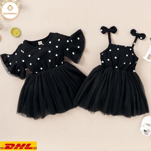 Kleinkind Baby Mädchen Gepunktet Tutu Kleid Prinzessin Party Kleider Sommerkleid
