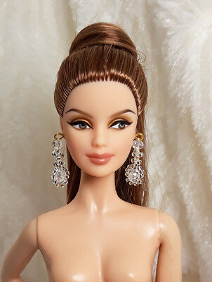 Handmade Red Crystal Bead Earrings Necklace Set Jewelry For Model Muse FR Doll