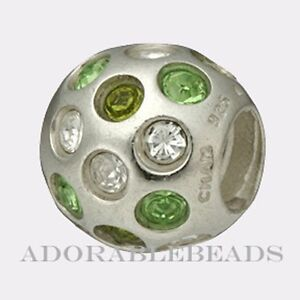 Authentic-Chamilia-Sterling-Silver-Disco-Green-Bead-JB-35D-RETIRED
